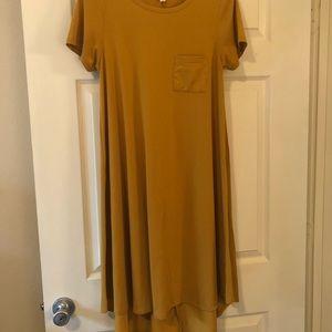 Golden High Low Swoop Dress